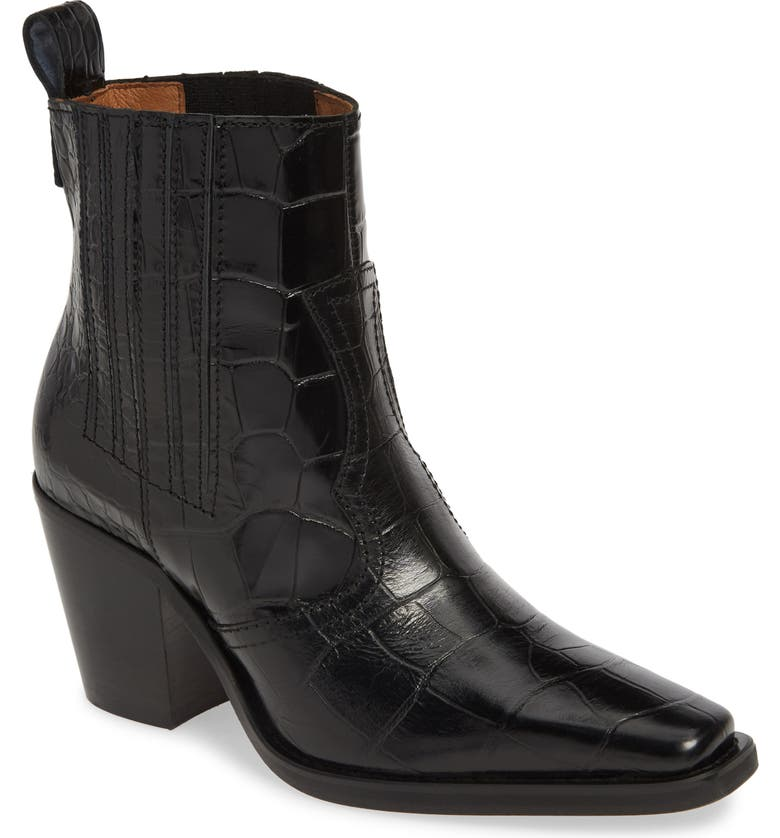 GANNI Western Bootie, Main, color, 001