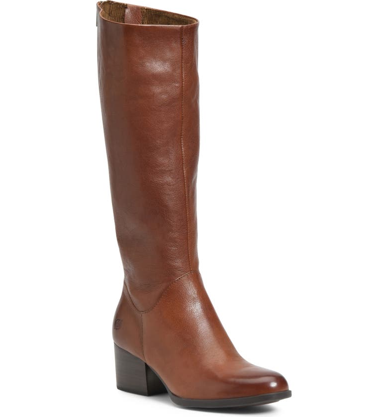 BØRN Audriana Knee High Boot, Main, color, BROWN LEATHER