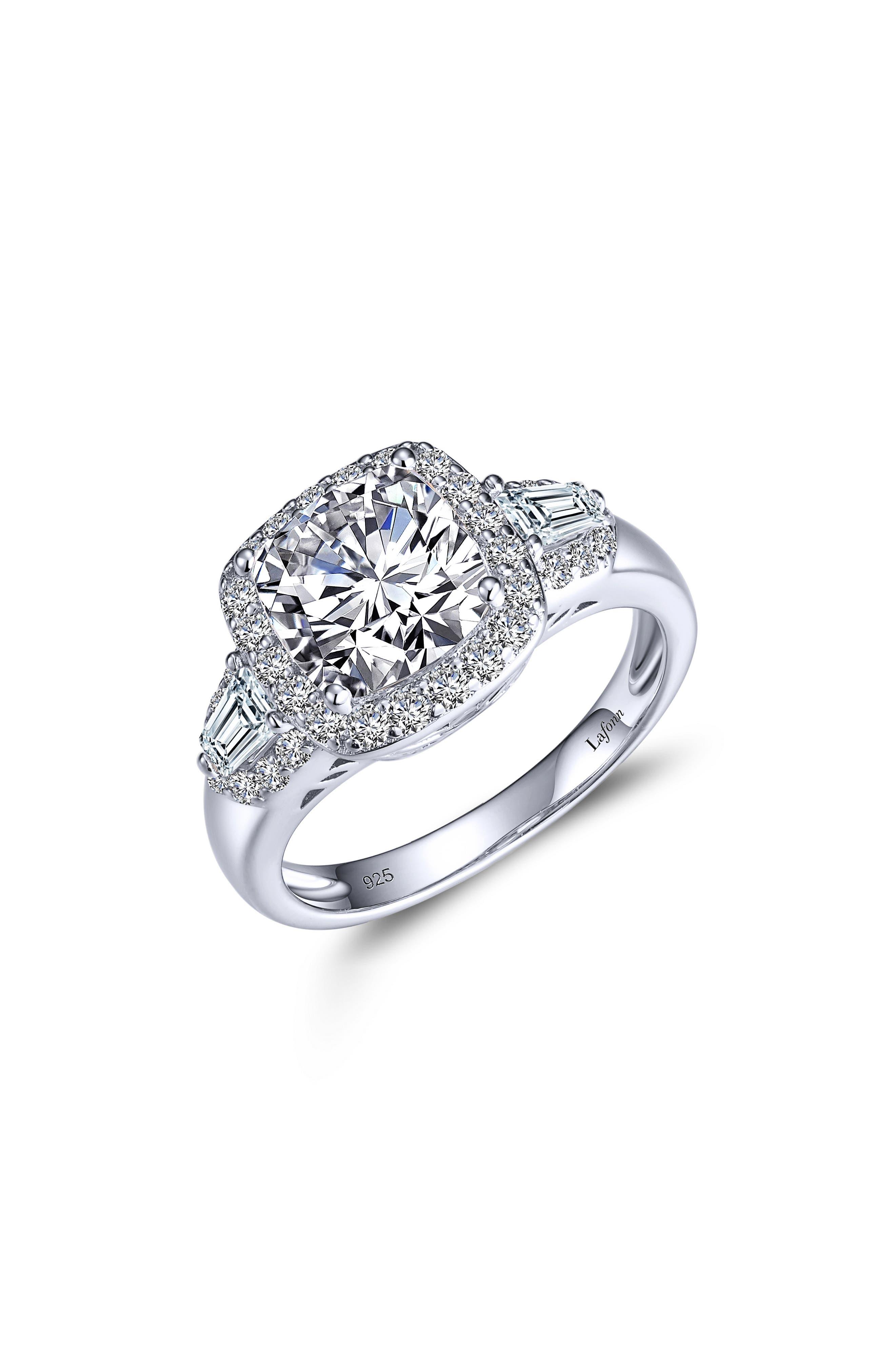 Classic Simulated Diamond Statement Ring