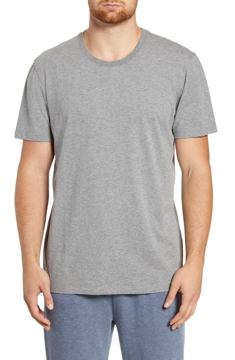 DANIEL BUCHLER Stretch Cotton & Modal Crewneck T-Shirt, Main, color, GREY