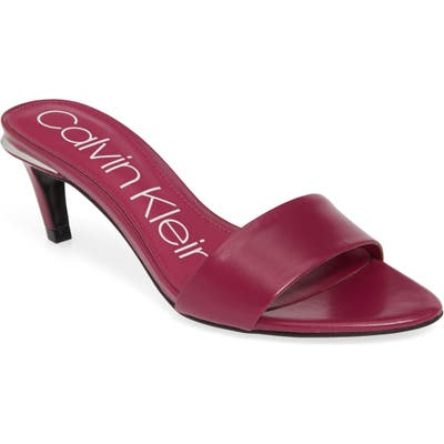 Calvin Klein Gallia Slide Sandal, Purple