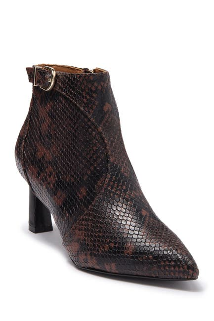 Image of Joie Rawly Leather Snake Embossed Ankle Boot