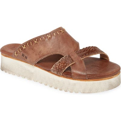 Bed Stu Platform Slide Sandal, Brown