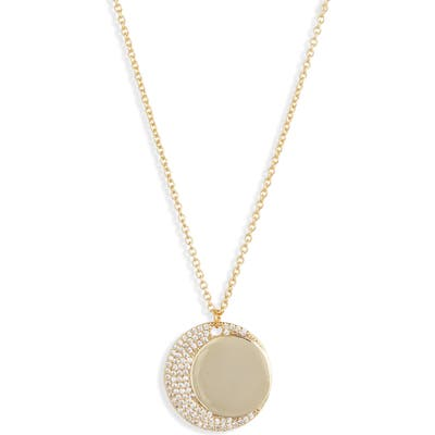 Jules Smith Moon Crystal Pendant Necklace