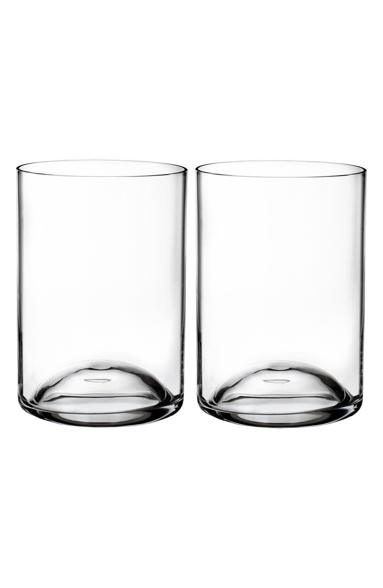 WATERFORD Elegance Set of 2 Lead Crystal Double Old Fashioned Glasses, Main, color, CRYSTAL
