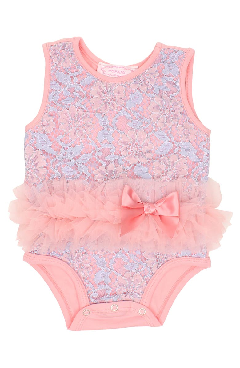 POPATU Floral Lace Tutu Bodysuit, Main, color, 452