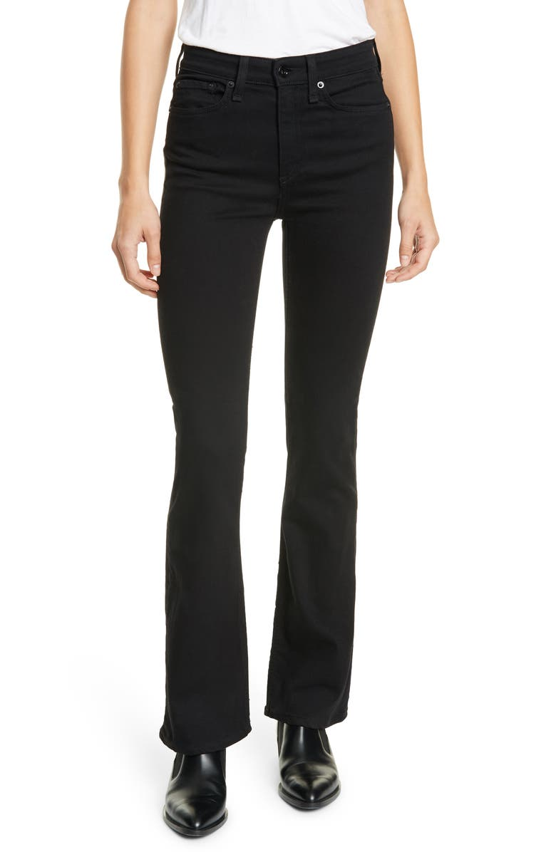 RAG & BONE Nina High Rise Bootcut Jeans, Main, color, NO FADE BL