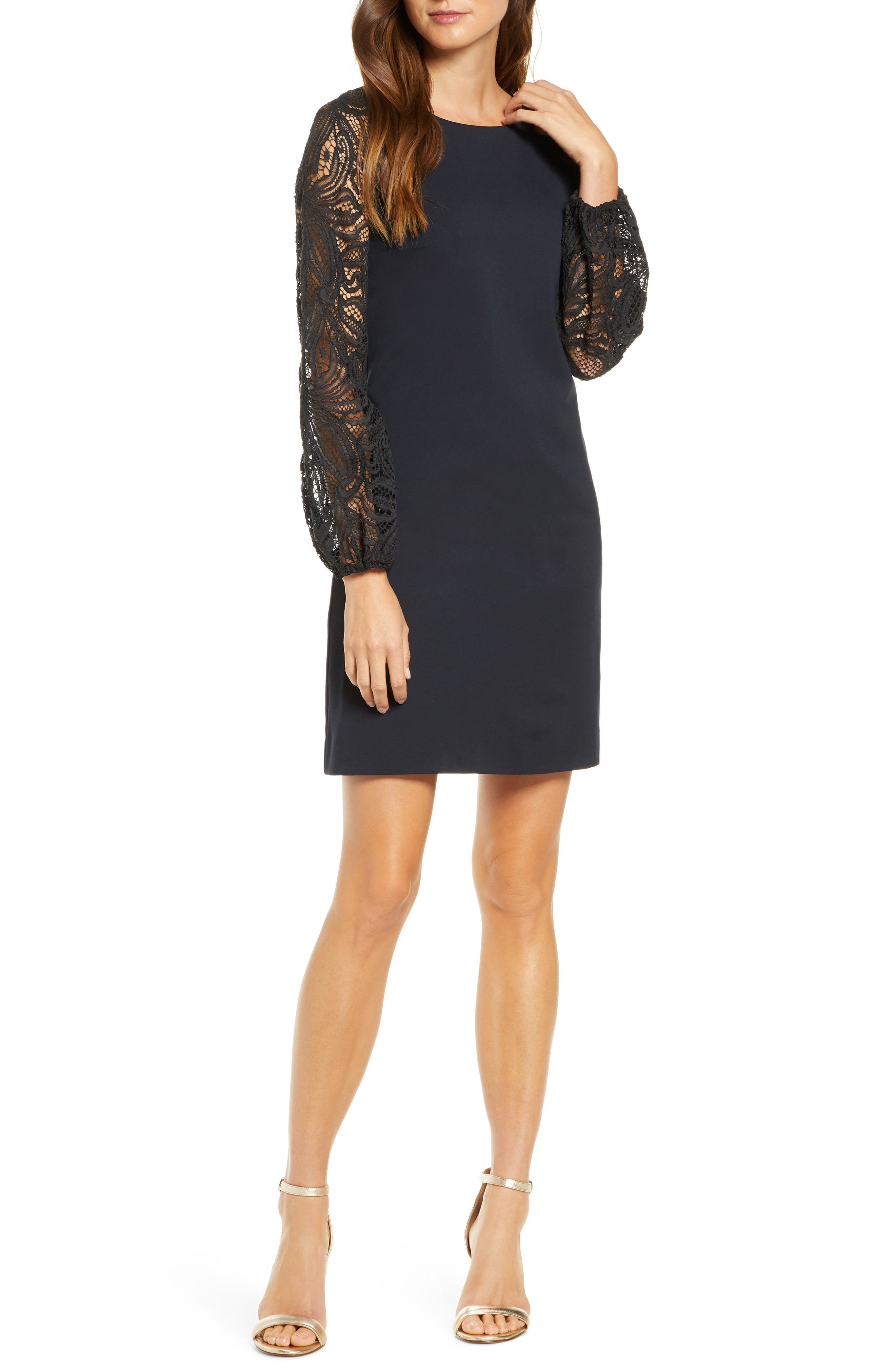 ISBN 9780003321005 product image for Women's Lilly Pulitzer Gali Lace Long Sleeve Shift Dress | upcitemdb.com