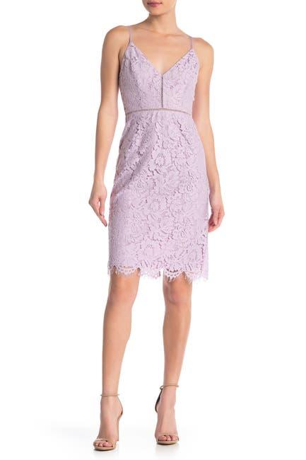 Image of ASTR the Label Lace V-Neck Sheath Dress