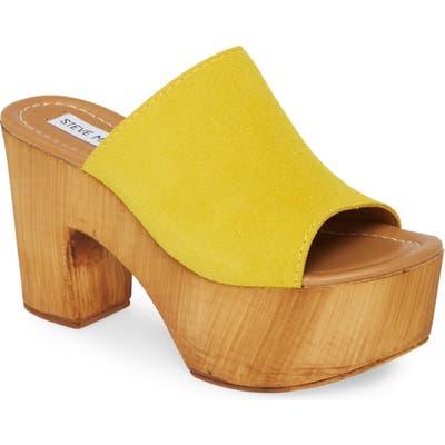 Steve Madden Playdate Platform Slide Sandal, Yellow