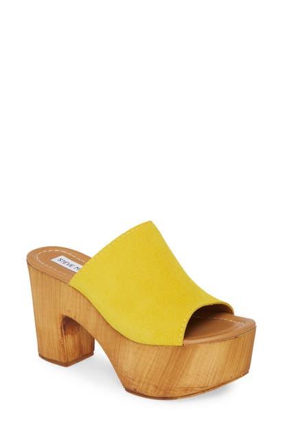 580b3564981 Playdate Platform Slide Sandal in Yellow Suede