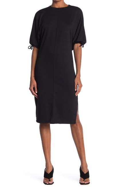 Image of Velvet Torch Puff Sleeve French Terry Dress