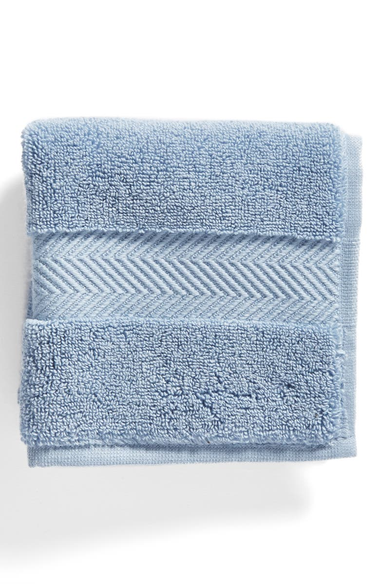 NORDSTROM AT HOME Hydrocotton Washcloth, Main, color, BLUE CHAMBRAY