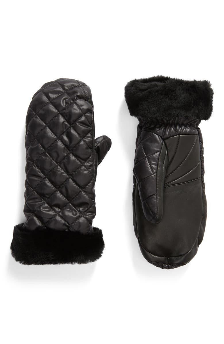 UGG<SUP>®</SUP> Quilted Performance Mittens, Main, color, 001