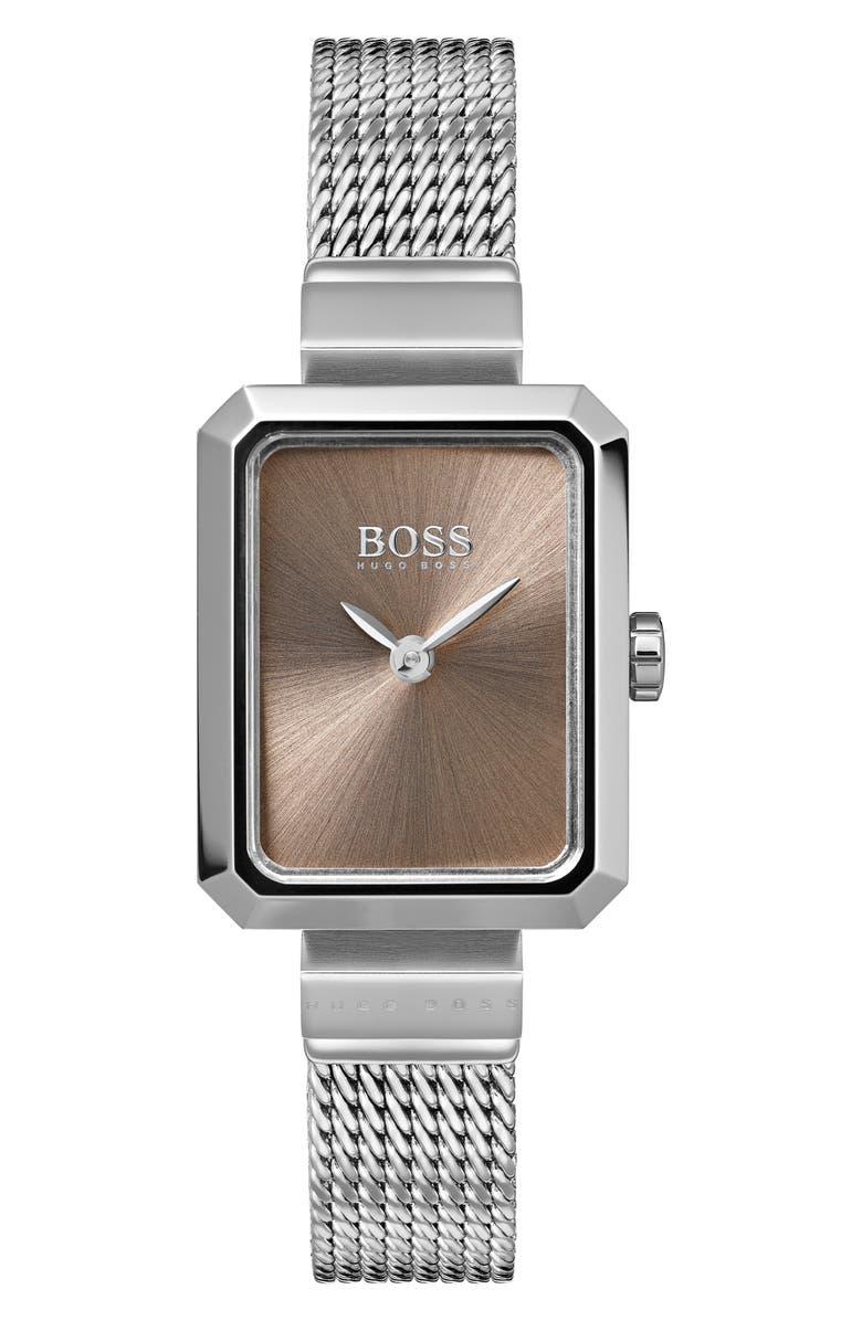 BOSS Whisper Strap Watch, 20mm x 26mm, Main, color, 040