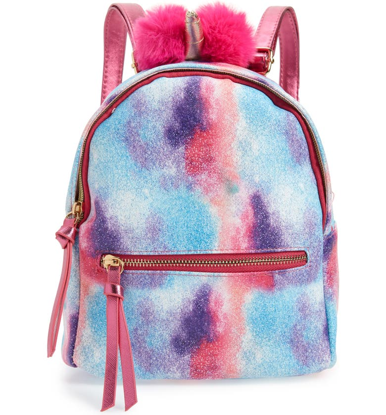 UNDER ONE SKY Mini Unicorn Backpack, Main, color, FUCHSIA MULTI