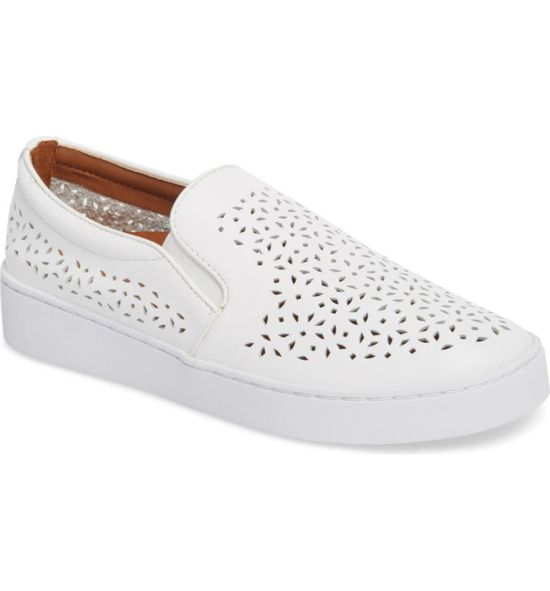 VIONIC Perforated Slip-On Sneaker, Main, color, 101