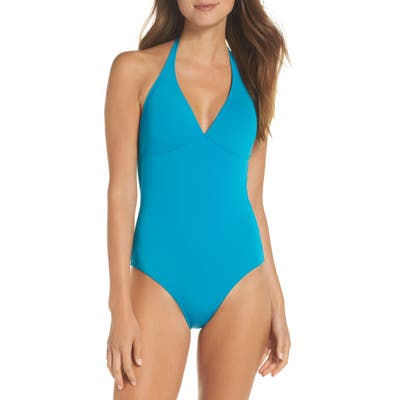 Vilebrequin Solid Water One-Piece Swimsuit, Blue