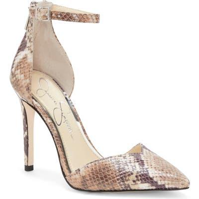 Jessica Simpson Paisleah Ankle Strap Pump, Beige
