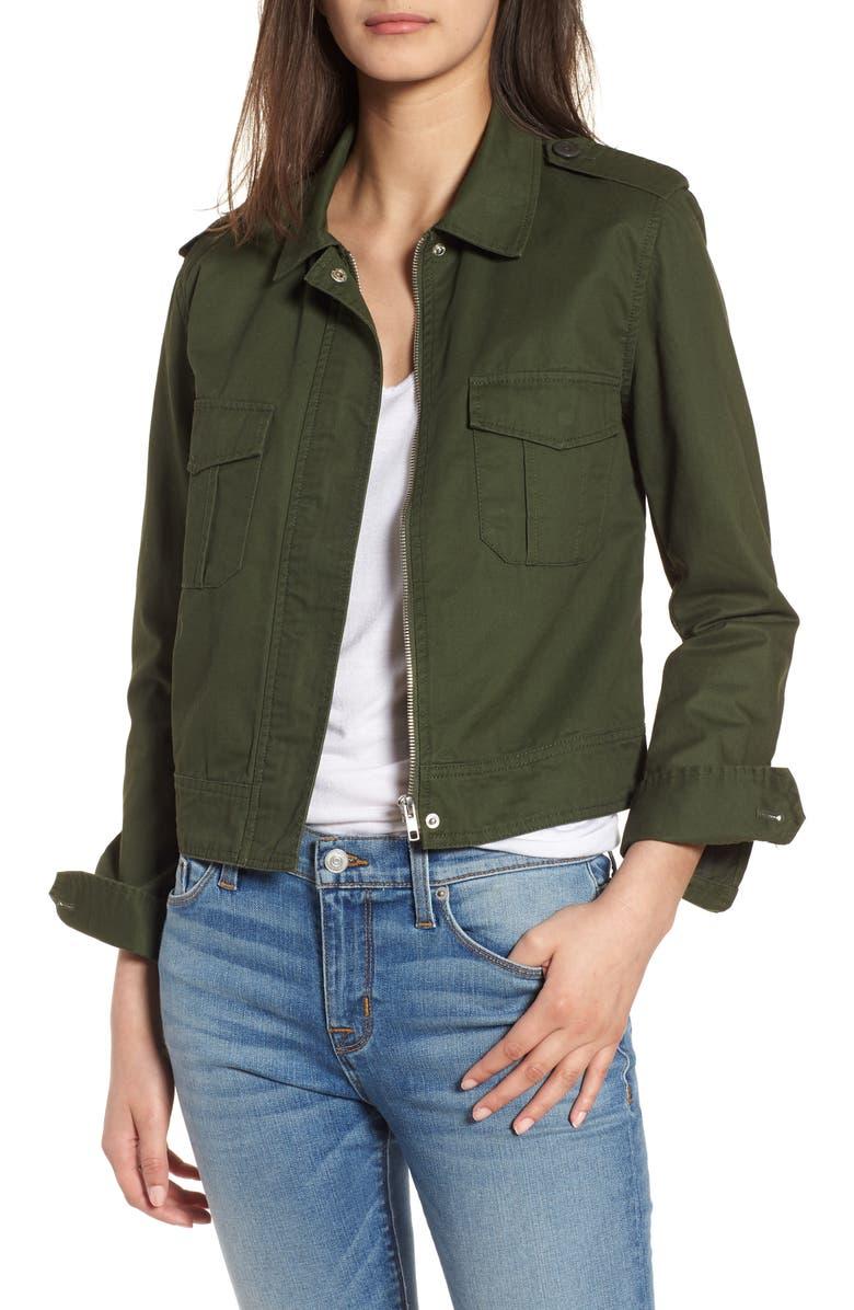 BB DAKOTA Maddox Cotton Twill Army Jacket, Main, color, 301