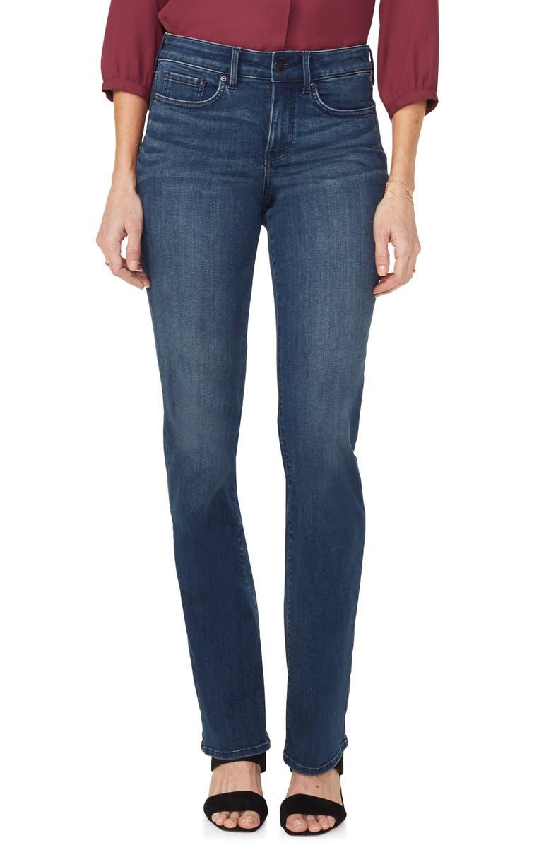NYDJ Marilyn Stretch Straight Leg Jeans, Main, color, BERNAL