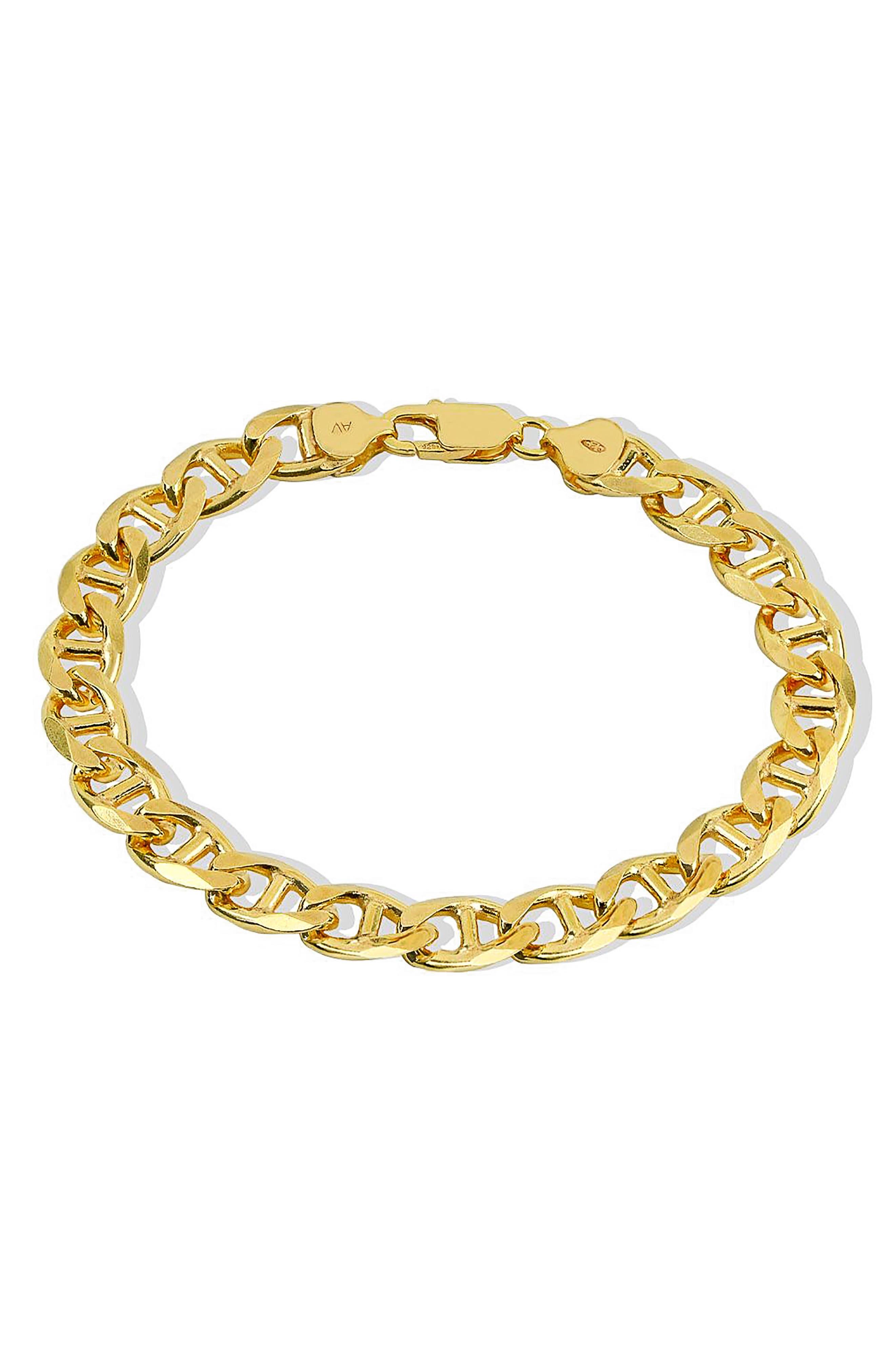 Men's Oval Link Bracelet