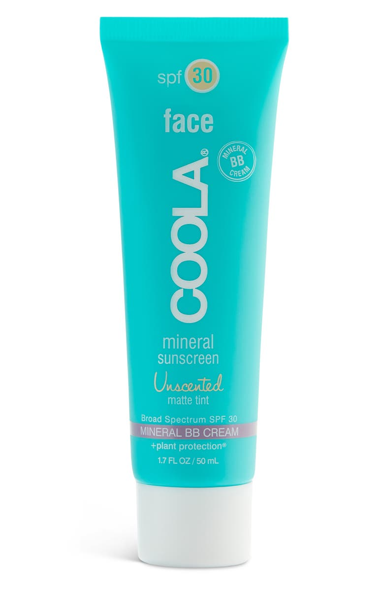COOLA<SUP>®</SUP> Suncare Face Mineral Sunscreen Unscented Matte Tint Broad Spectrum SPF 30, Main, color, NO COLOR
