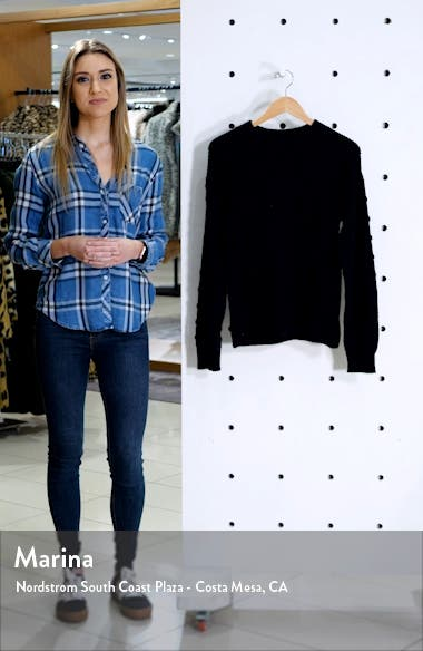 Puff Sleeve Bobble Ribbed Sweater, sales video thumbnail