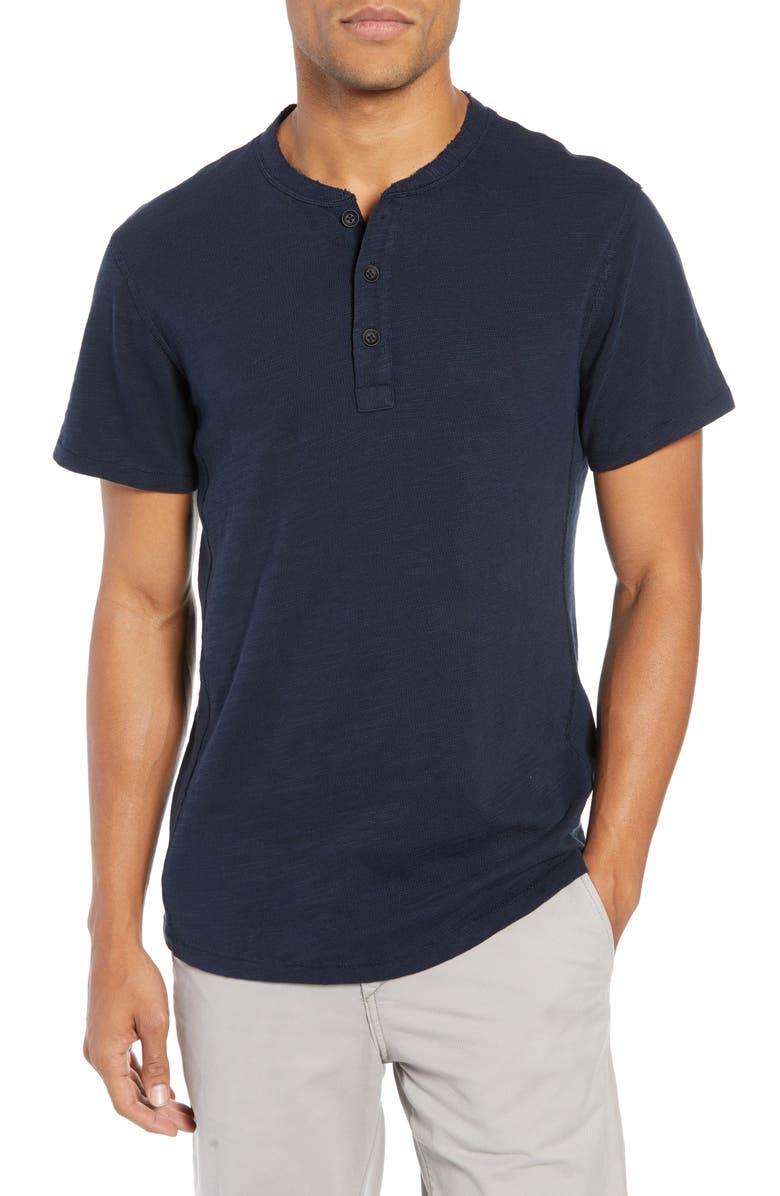 RAG & BONE Slim Fit Henley T-Shirt, Main, color, DEEP NAVY