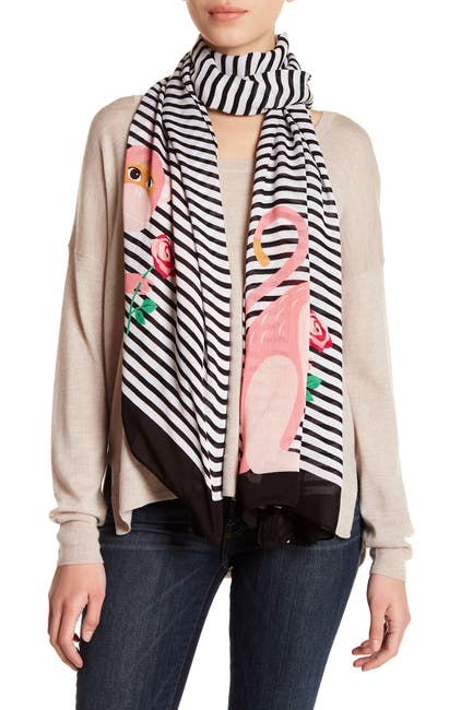 Image of kate spade new york monkey rose wrap scarf