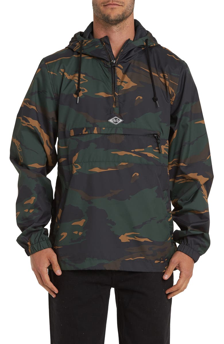 BILLABONG Windswell Anorak, Main, color, CAMO