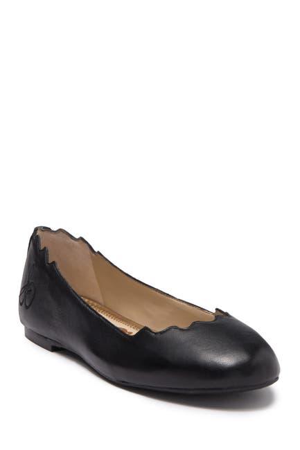 Image of Sam Edelman Finnegan Scalloped Leather Ballet Flat