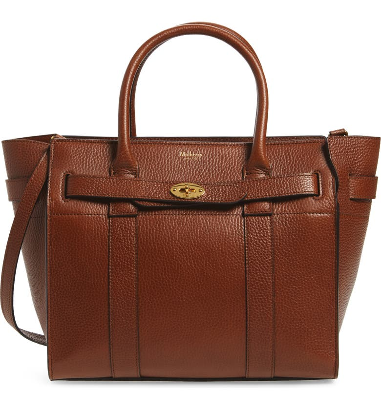 MULBERRY Small Bayswater Leather Satchel, Main, color, 201