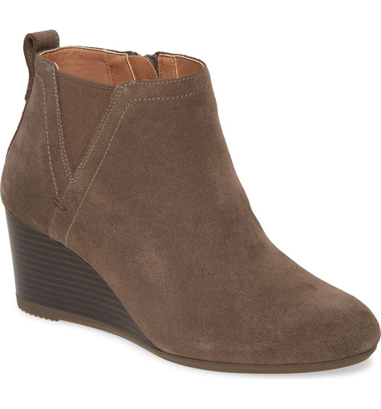 VIONIC Paloma Wedge Bootie, Main, color, GREIGE SUEDE