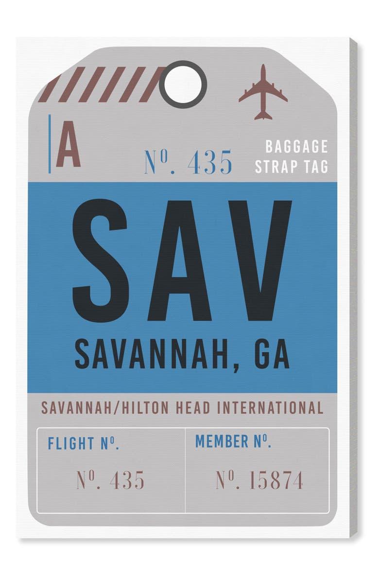 OLIVER GAL Savannah Luggage Tag Wall Art, Main, color, BLUE