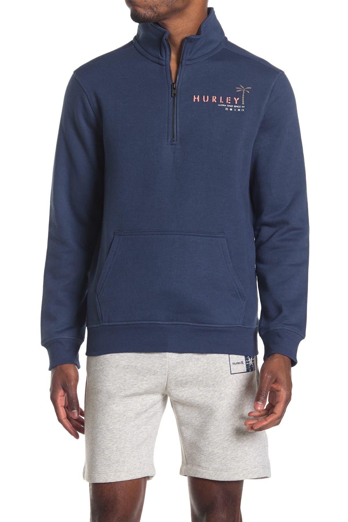 Image of Hurley Quarter Zip Fleece Pullover Sweater
