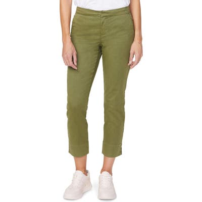 Nydj Relaxed Crop Chino Pants, Green
