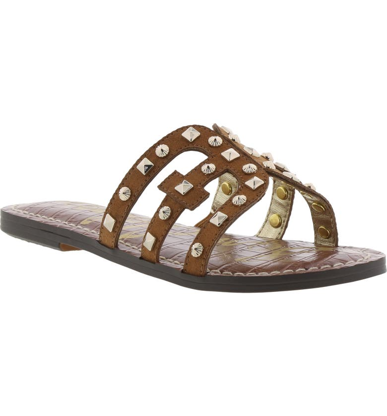 SAM EDELMAN Gigi Bridget Sandal, Main, color, SADDLE