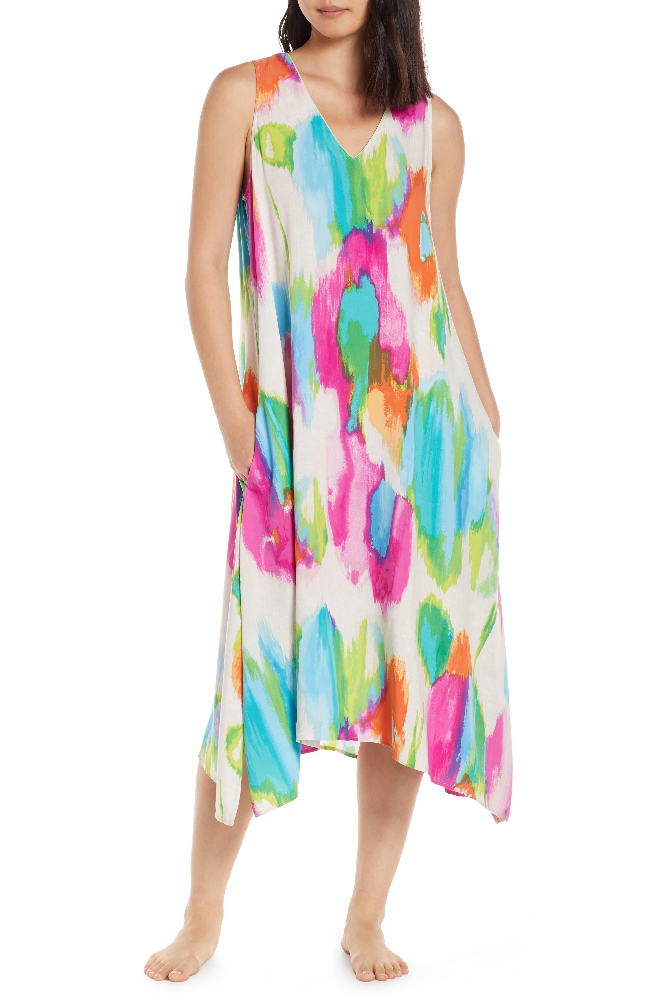 Natori Aurora High/low Nightgown, Ivory