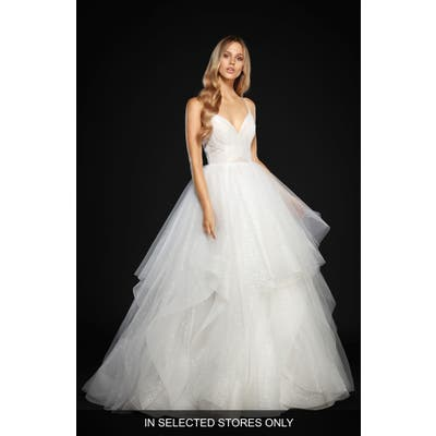 Hayley Paige Chandon Stardust Tulle Ballgown, Size - Ivory