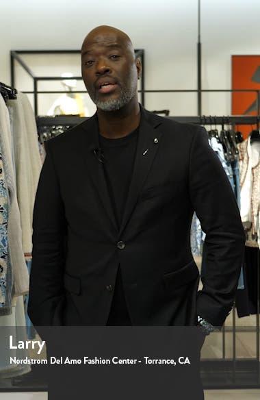 Jetsetter Slim Fit Plaid Stretch Wool Sport Coat, sales video thumbnail