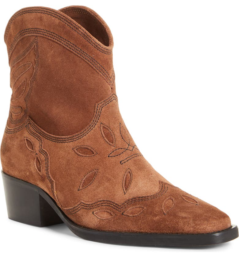 GANNI Texas Short Western Boot, Main, color, TAPIOCA