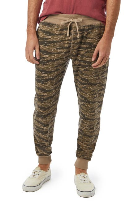 Image of Alternative Slimline Printed Lightweight French Terry Cargo Joggers
