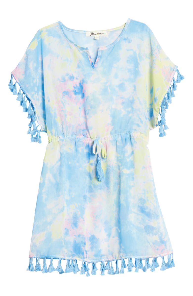 MIKEN SWIM Tassel Cover-Up Dress, Main, color, 400