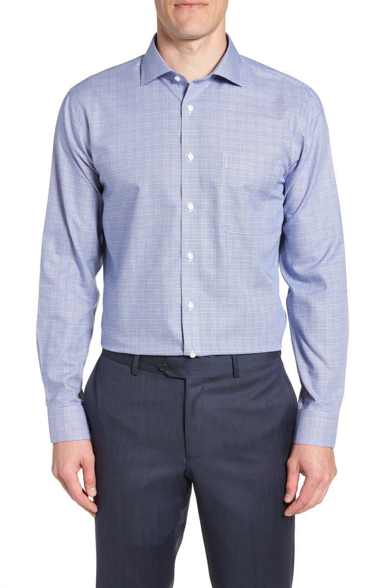 NORDSTROM MEN'S SHOP Smartcare<sup>™</sup> Trim Fit Herringbone Dress Shirt, Main, color, 420