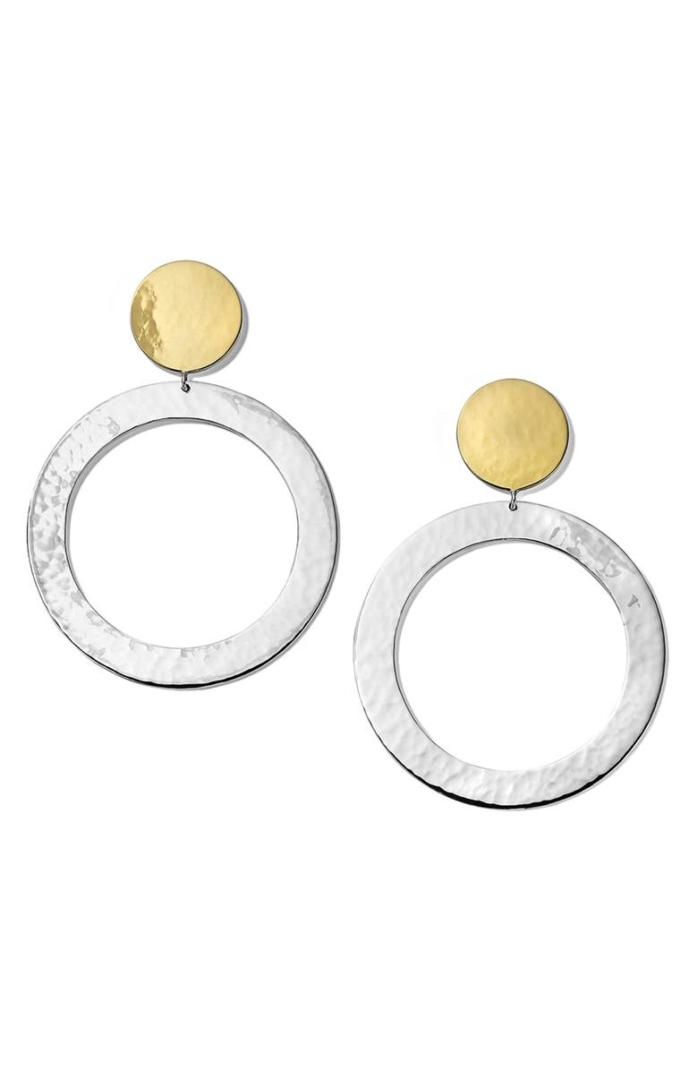 IPPOLITA Chimera Classico Hammered Hoop Drop Earrings, Main, color, SILVER/ GOLD