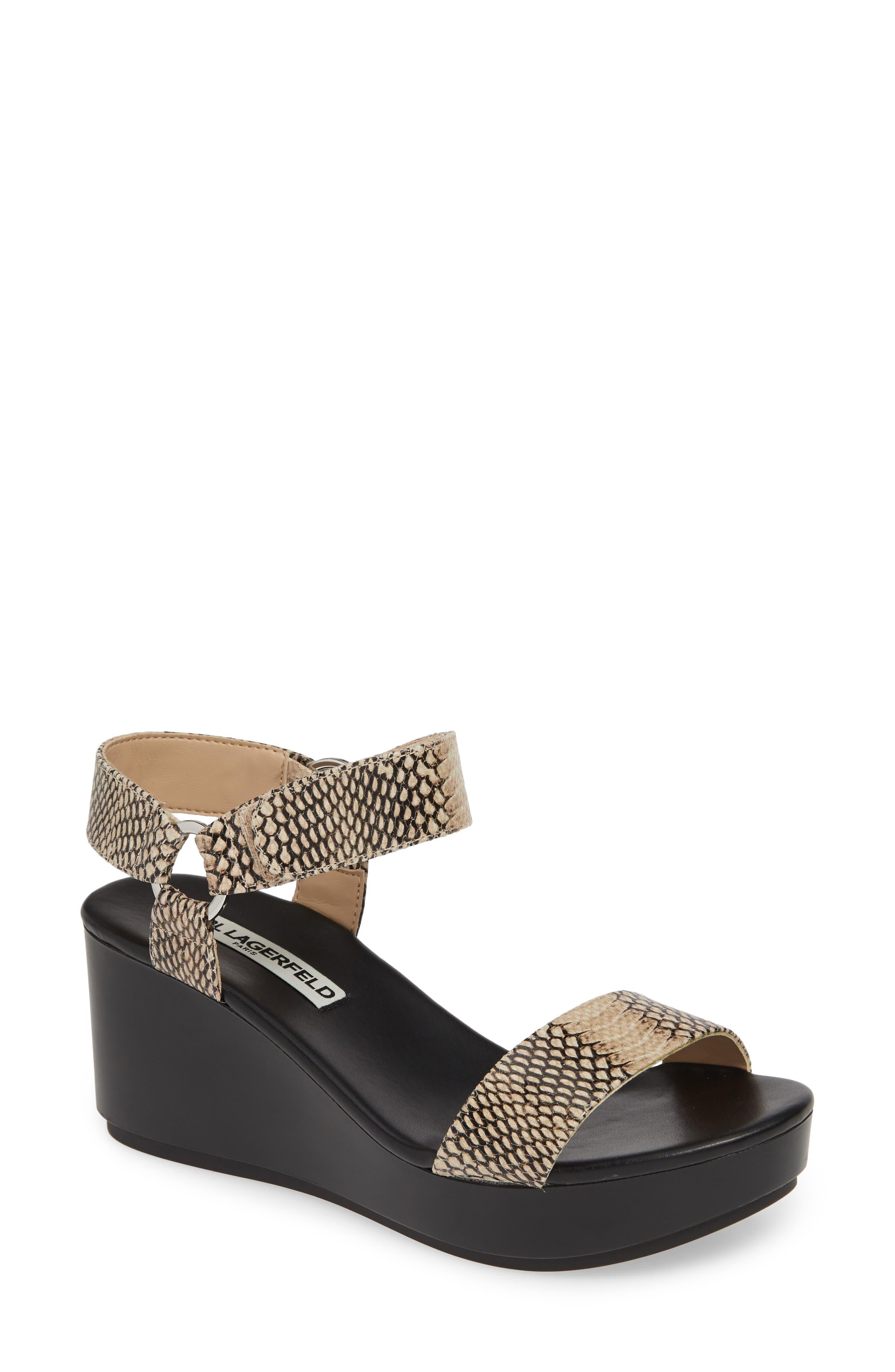 Karl Lagerfeld Paris Lana Platform Sandal- Black