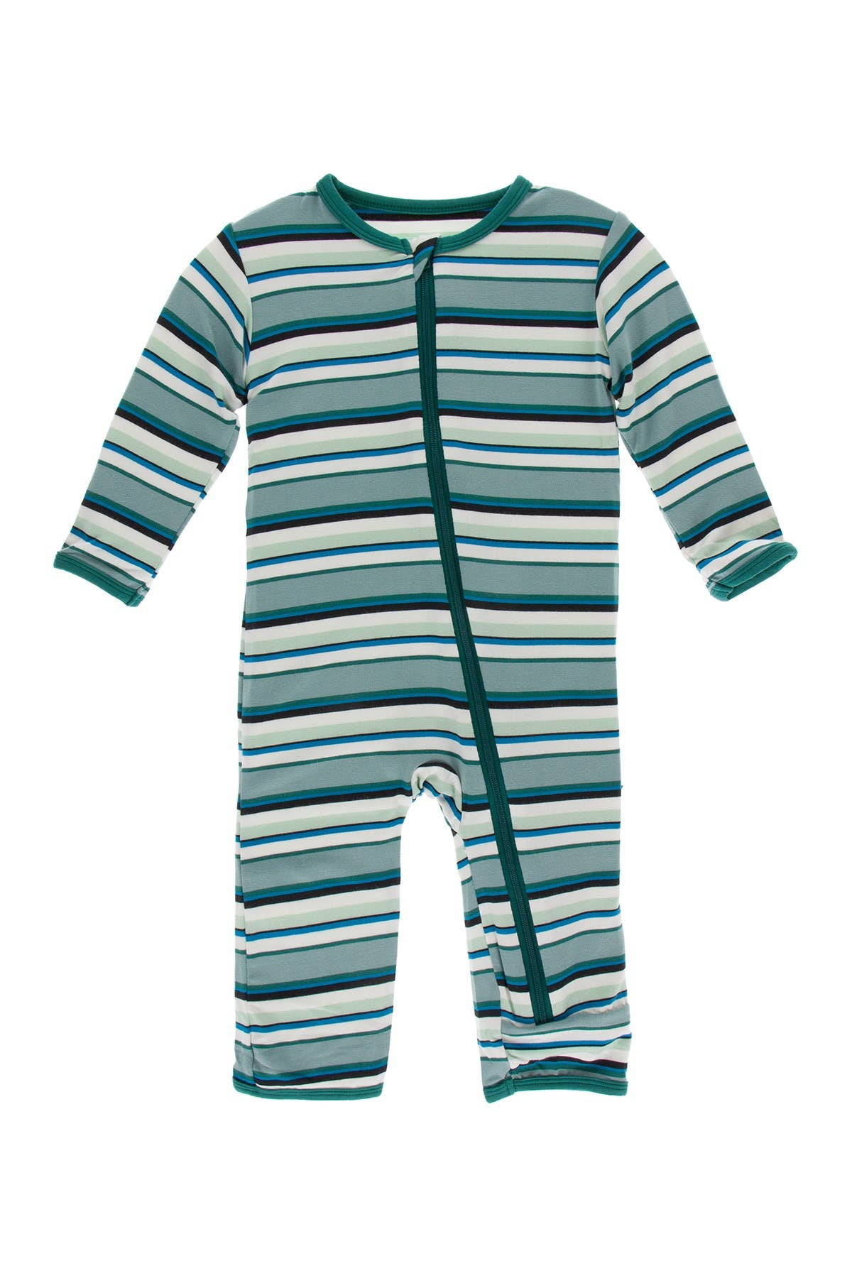Image of KicKee Pants Print Coverall w/ Zipper in Multi Agriculture Stripe