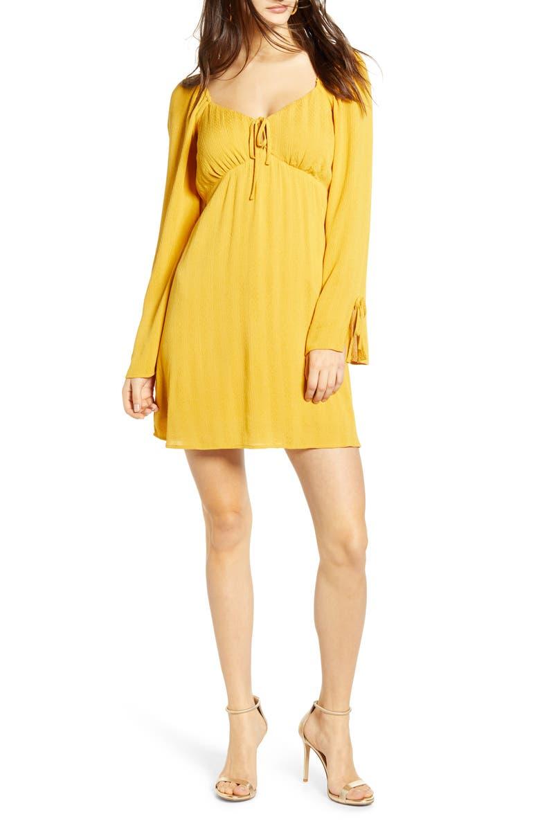 JUNE & HUDSON Long Sleeve Minidress, Main, color, 741