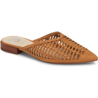 Vince Camuto Morley Woven Pointy Toe Mule, Brown
